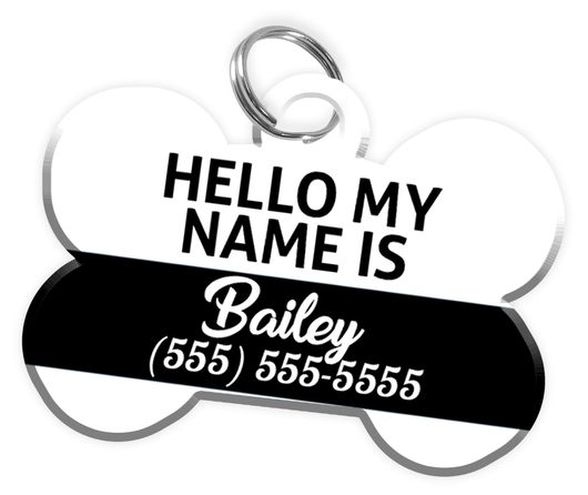 Name Tag Dog Tag for Pets Personalized Custom Pet Tag with Pets Name & Contact Number [Multiple Font Choices] [USA COMPANY]