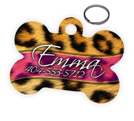Leopard Personalized Custom Pet Tag ID | ElitePetFan.com