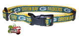 Greenbay Packers Football Pet Dog or Cat Collar with FREE Personalized ID Dog Tag with Name & Number [Multiple Collar Sizes Avl: S,M,L] | ElitePetFan.com