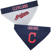 Cleveland Indians MLB Reversible Bandana (Home side & Away side) for Dog (2 Sizes Available) - EliteFanCo