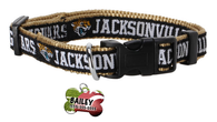 Jacksonville Jaguars Football Pet Dog or Cat Collar with FREE Personalized ID Dog Tag with Name & Number [Multiple Collar Sizes Avl: S,M,L] | ElitePetFan.com