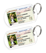 Arizona Driver License Custom Pet ID Tags - Dog or Cat ID Tag - Personalized - US Company | ElitePetFan.com