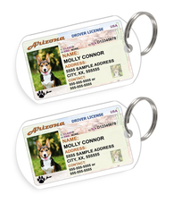 Arizona Driver License Custom Pet ID Tags - Dog or Cat ID Tag - Personalized - US Company - EliteFanCo