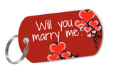 """Will you marry me?"" Cute Pet ID Tag for Dog 