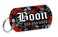 Roses Tag for Dog Personalized Custom Pet Tag with Pets Name & Contact Number