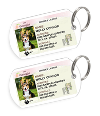 Georgia Driver License Custom Pet ID Tags - Dog or Cat ID Tag - Personalized - US Company - EliteFanCo