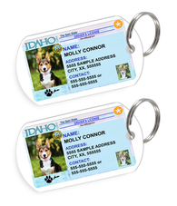 Idaho Driver License Custom Pet ID Tags - Dog or Cat ID Tag - Personalized - US Company