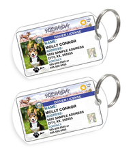 Nevada Driver License Custom Pet ID Tags - Dog or Cat ID Tag - Personalized - US Company