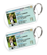 New Hampshire Driver License Custom Pet ID Tags - Dog or Cat ID Tag - Personalized - US Company | ElitePetFan.com