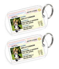 North Carolina Driver License Custom Pet ID Tags - Dog or Cat ID Tag - Personalized - US Company