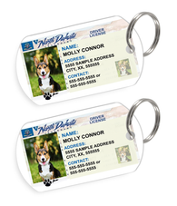 North Dakota Driver License Custom Pet ID Tags - Dog or Cat ID Tag - Personalized - US Company