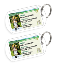 Vermont Driver License Custom Pet ID Tags - Dog or Cat ID Tag - Personalized - US Company
