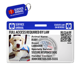 Service Animal Dog ID Package [Includes HD Pet ID Wallet Card & Pet Tag for a Dog] | ElitePetFan.com