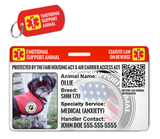Emotional Support Animal ESA ID Package [Includes HD Pet ID Wallet Card & Pet Tag for a Dog or Cat] | ElitePetFan.com