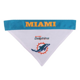 Miami Dolphins NFL Reversible Bandana (Home side & Away side) for Dog (2 Sizes Available) | ElitePetFan.com