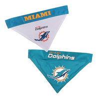 Miami Dolphins NFL Reversible Bandana (Home side & Away side) for Dog (2 Sizes Available)