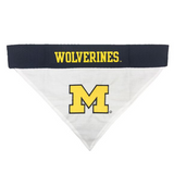 Michigan Wolverines NCAA Reversible Bandana (Home side & Away side) for Dog (2 Sizes Available)