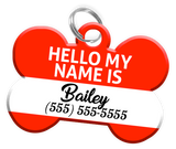 New England Patriots NFL Dog ID Tag (2 Pack) for Pet - Custom Personalization with Pets Name & Contact Number [Multiple Font Choices]