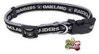 Oakland Raiders Football Pet Dog or Cat Collar with FREE Personalized ID Dog Tag with Name & Number [Multiple Collar Sizes Avl: S,M,L]