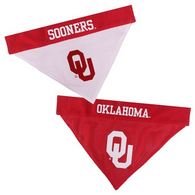 Oklahoma Sooners NCAA Reversible Bandana (Home side & Away side) for Dog (2 Sizes Available) | ElitePetFan.com