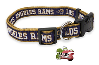 Los Angeles Rams Football Pet Dog or Cat Collar with FREE Personalized ID Dog Tag with Name & Number [Multiple Collar Sizes Avl: S,M,L] | ElitePetFan.com
