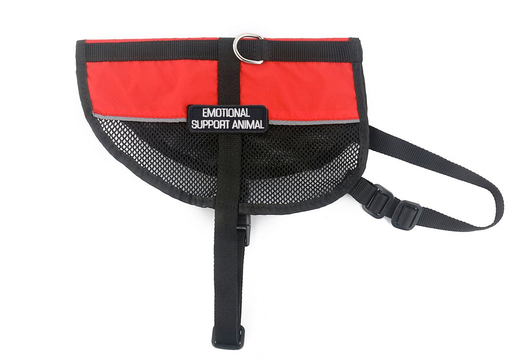 Emotional Support Animal Vest - Red Mesh Harness [Multiple Sizes] | ElitePetFan.com