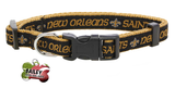 New Orleans Saints Football Pet Dog or Cat Collar with FREE Personalized ID Dog Tag with Name & Number [Multiple Collar Sizes Avl: S,M,L] | ElitePetFan.com
