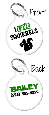 Cute Funny Custom double-sided Dog Tag for Pets or Cat Tag with Personalized Pets Name & Contact Number on the back