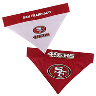 San Francisco 49ers NFL Reversible Bandana (Home side & Away side) for Dog (2 Sizes Available)