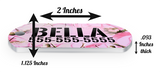 Camo (Pink Tree) Dog Tag for Pets Personalized Custom Pet Tag with Pets Name & Contact Number [USA COMPANY] | ElitePetFan.com