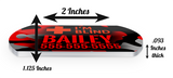 I'M BLIND (Red) Camo Dog Tag for Blind Dogs & Blind Cats Personalized Custom Pet Tag with Pets Name & Contact Number
