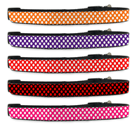 Polka Dot Adjustable Dog Collar for Pet (Small to Medium Dogs 12'-16' inch) (Large Dogs 16'-20' inch) | ElitePetFan.com