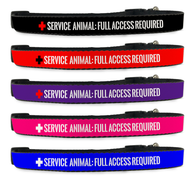 Adjustable Service Animal Full Access Required Dog Collar [Multiple Sizes] | ElitePetFan.com
