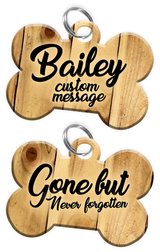 Pet Memorial Gifts - Dog Tag Set (comes with 2 tags) personalized custom pet tags to honor an old friend (USA Company) | ElitePetFan.com