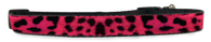 Pink Leopard Print Adjustable Dog Collar (Small to Medium Dogs 12'-16' inch) & (Large Dogs 16'-20' inch)