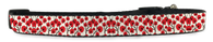 Red Flowers Adjustable Dog Collar (Small to Medium Dogs 12'-16' inch) & (Large Dogs 16'-20' inch) | ElitePetFan.com