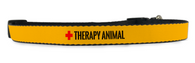 Adjustable Therapy Dog Collar (Small to Medium Dogs 12'-16' inch) & (Large Dogs 16'-20' inch)