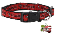 Tampa Bay Buccaneers Football Pet Dog Collar with FREE Personalized ID Dog Tag with Name & Number [Multiple Collar Sizes Avl: S,M,L]