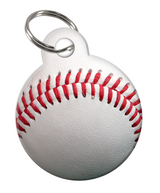 Baseball Custom double-sided Dog Tag for Pets or Cat Tag with Personalized Pets Name & Contact Number on the back | ElitePetFan.com