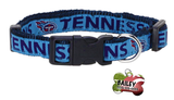 Tennessee Titans Pet Dog or Cat Collar Pet Dog Collar with FREE Personalized ID Dog Tag with Name & Number [Multiple Collar Sizes Avl: S,M,L]