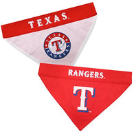 Texas Rangers MLB Reversible Bandana (Home side & Away side) for Dog (2 Sizes Available)
