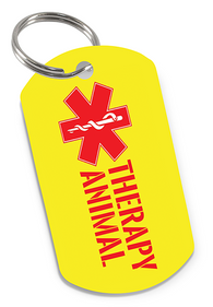 High Quality Therapy Animal ID Tag for Dog or Cat | ElitePetFan.com