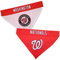 Washington Nationals MLB Reversible Bandana (Home side & Away side) for Dog (2 Sizes Available)