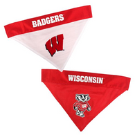 Wisconsin Badgers NCAA Reversible Bandana (Home side & Away side) for Dog (2 Sizes Available)
