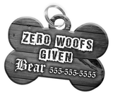 Dog ID Tag for Pets Personalized Custom Pet Tag with Pets Name & Contact Number [Multiple Font Choices] [USA COMPANY] - EliteFanCo