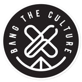 "Bang The Culture ""Stamp Logo"" Bubble-free stickers"