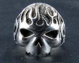 Harley Davidson Flaming Skull Ring