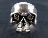 Skull with Dice for Eyes Ring