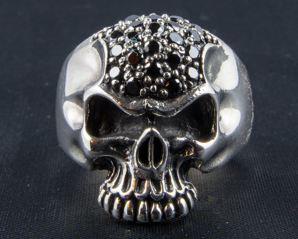 Jewel Encrusted Skull Ring