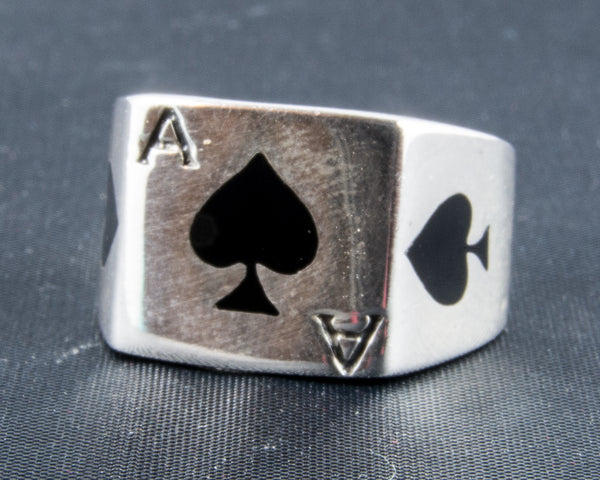Ace of Spades Playing Card Ring